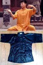 Bargain - Mandarin Collar Short-sleeve Kung Fu Shirt (CM)
