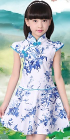 女童印花旗袍 (成衣)