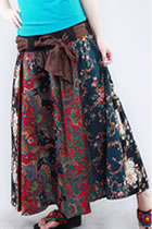 Ethnic Patching Fabric Long Skirt (RM)