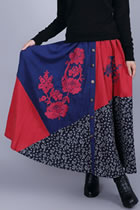 Ethnic Patching Fabric Embroidery Skirt (RM)