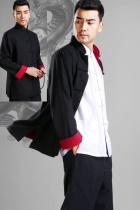 Mandarin Reversible Linen-cotton Jacket (RM)