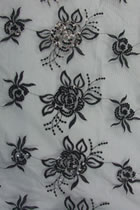 Fabric - See-through Embroidery Gauze (Black)
