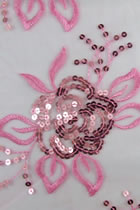 Fabric - See-through Embroidery Gauze (Pink)