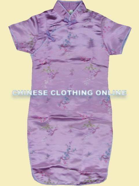 Girl's Plumb Blossoms & Bamboo Leaves Cheongsam Dress (RM)