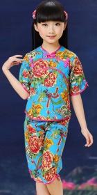 Girl's Floral Mandarin Suit (RM)