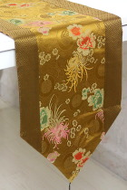 Chinese Ethnic Longevity & Chrysanthemum Embroidery Table Runner (RM)