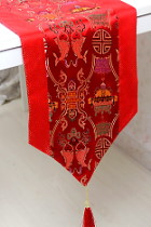 Chinese Ethnic Twin-fish Embroidery Table Runner (RM)
