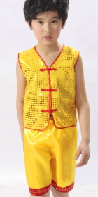 Kid's Paillette Kung Fu Vest Suit (RM)