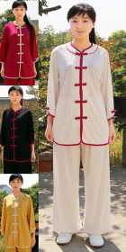 Round Collar 3/4-sleeve Gourd Frog Kung Fu Suit (CM)
