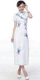 Short-sleeve Long-length Embroidery Cheongsam (RM)