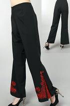 Mandarin Pants w/ Lotus and Auspicious Cloud Embroidery (RM)