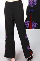 Mandarin Pants w/ Flower and Auspicious Cloud Embroidery (RM)