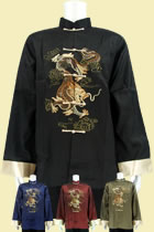 Dragon Embroidery Mandarin Thai Silk Jacket (RM)