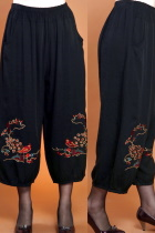Floral and Bird Embroidery Pants (RM)