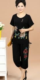Mudan Peony Printing Short-sleeve Suit (RM)
