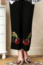 Lotus and Mandarin Duck Embroidery Pants (RM)