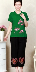 Floral Embroidery Short-sleeve Suit (RM)