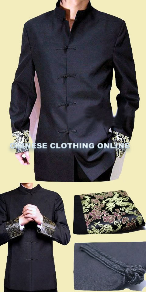 Modernised Mao Suit w/ Brocade Cuffs (CM)