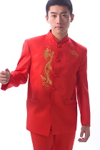 Modernised Mao Suit w/ Golden Dragon Embroidery (RM)