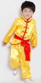 Bargain - Kid's Kung Fu Uniform with Sash - Yellow