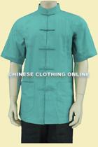 Mandarin Collar Cotton Short-sleeve Underwear (CM)