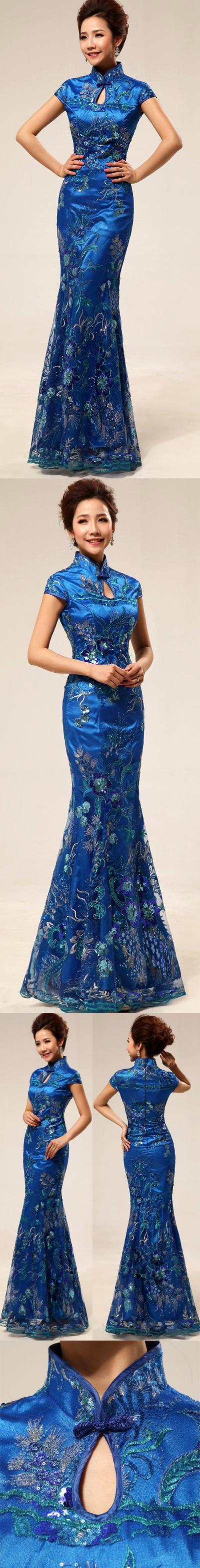 Cup-sleeve Long-length Prom Cheongsam (RM)