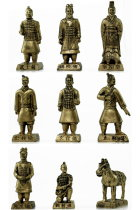 9-piece (8cm) Miniature Terracotta Army