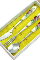 Stainless Steel w/ Porcelain handle Cutlery Set