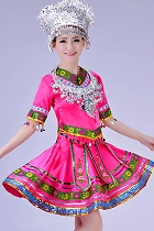 Chinese Ethnic Dancing Costume - Miao Zu