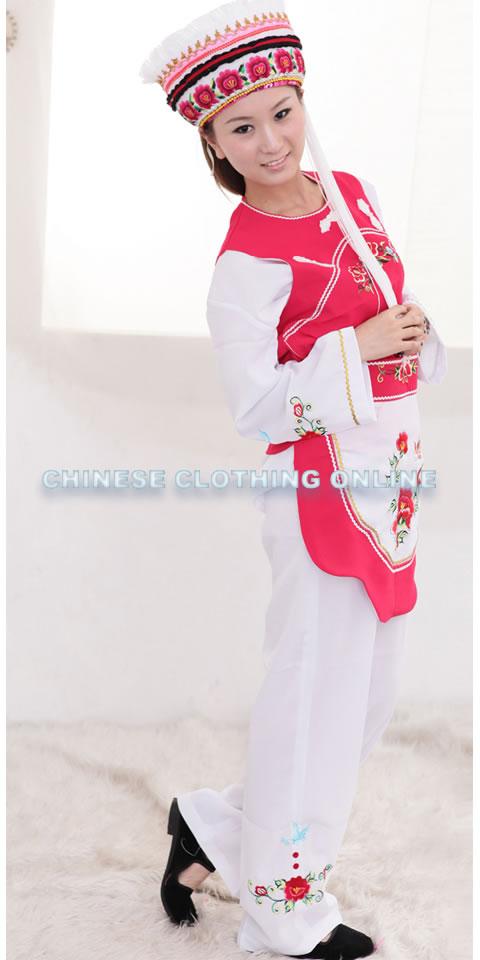 Chinese Ethnic Dancing Costume - Dali Bai Zu