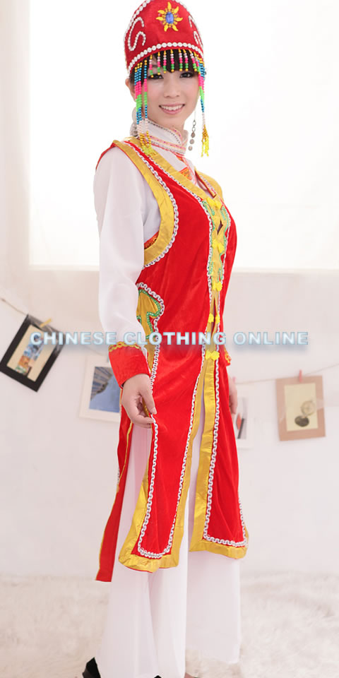 Chinese Ethnic Dancing Costume - Menggu Zu