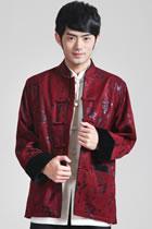 Mandarin Brocade Fabric Mink Hair Jacket (RM)