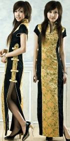 Slort-sleeve Long-length Cheongsam (CM)