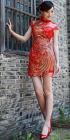Bargain - Cup-sleeve Short-length Cheongsam (RM)