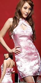Cut-in Shoulders Bareback Short-length Cheongsam (CM)