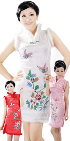 Sleeveless Short-length Winter Cheongsam (RM)