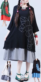 Ethnic Embroidery Applique Dress (RM)