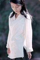 Long-sleeve Cross-collar Hanfu Shirt (CM)