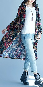 Trendy Ethnic Cotton Linen Printing Coat (RM)