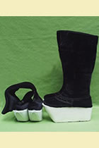 Stage Footwears - High Boots with Wooden Sole
