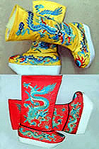 Stage Footwears - High Dragon Boots with Wooden Sole