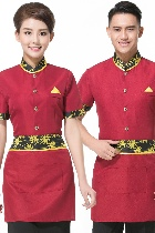 Mandarin Style Restaurant Uniform-Top (Crismon)